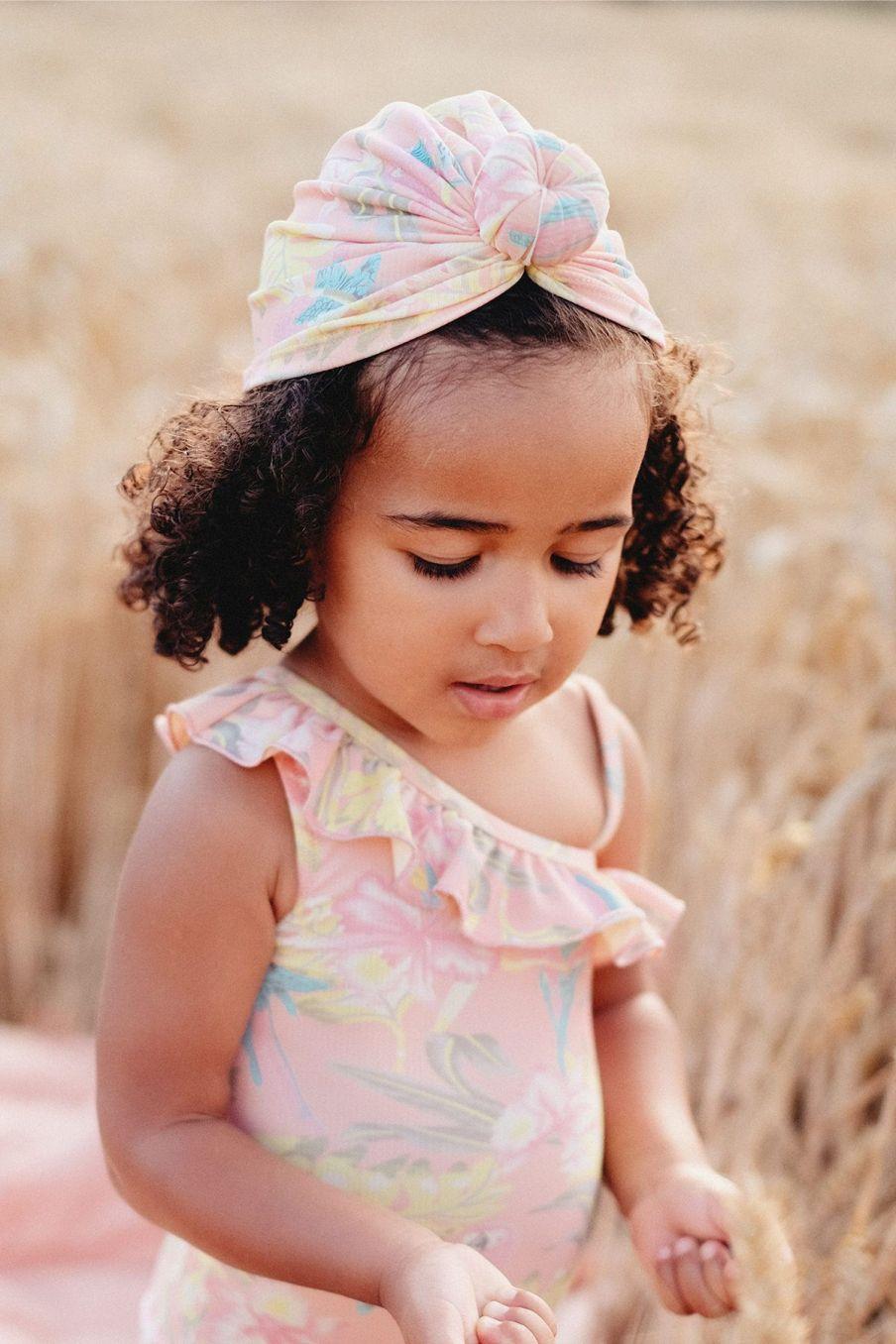 boheme chic vintage bonnet de bain bébé fille sylvania sienna parrots