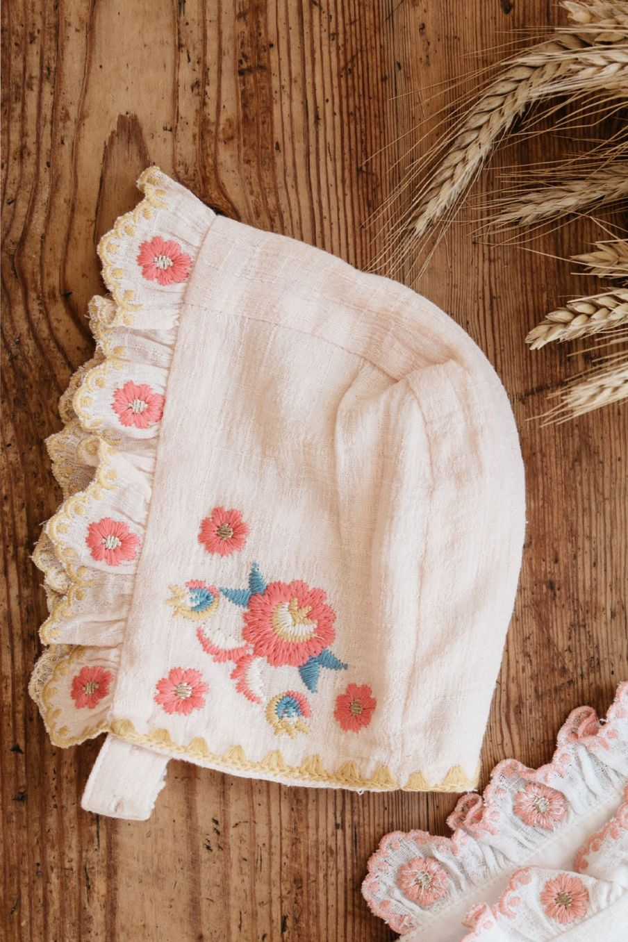 boheme chic vintage bonnet bébé fille tishaya blush
