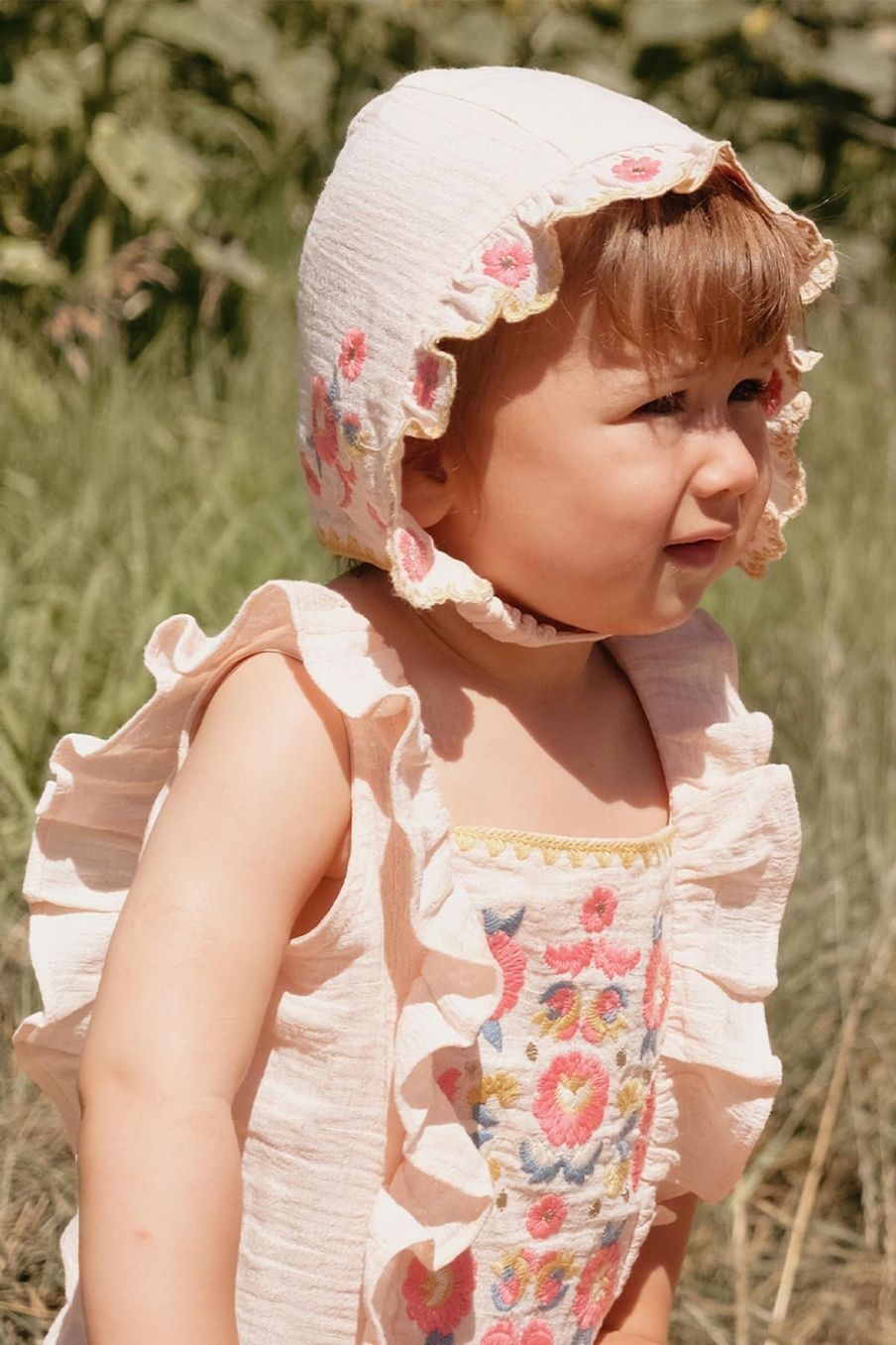 boheme chic vintage bonnet fille tishaya blush