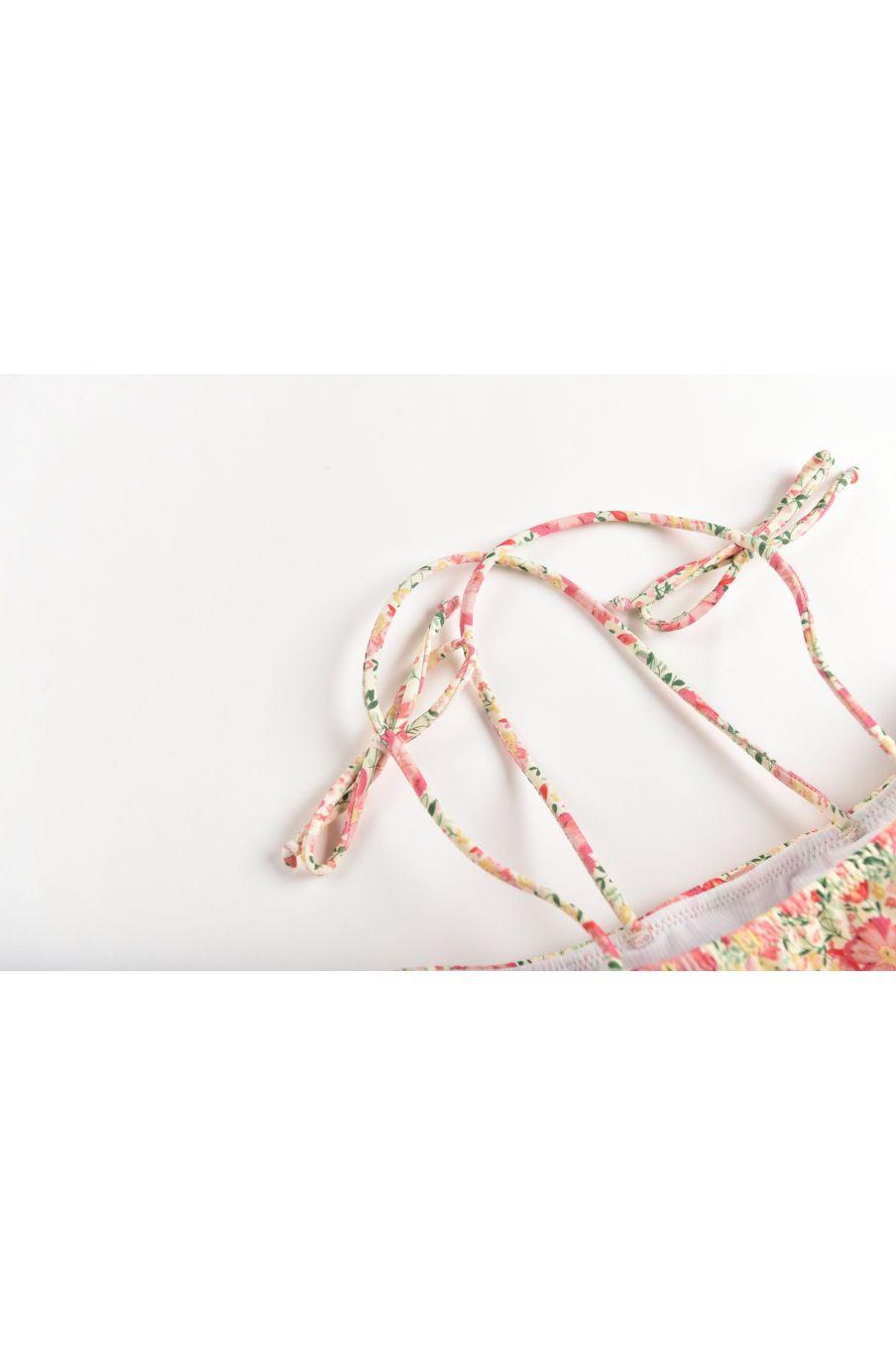 boheme chic vintage bikini fille zacata pink meadow