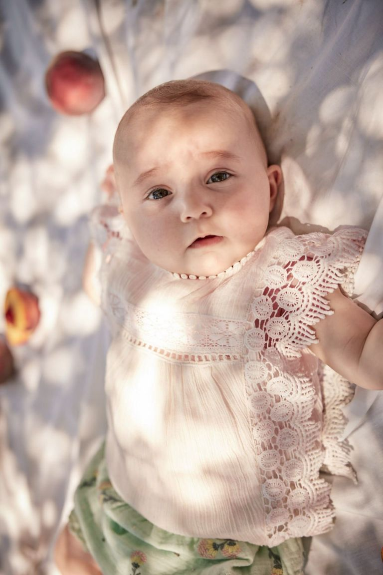 boheme chic vintage blouse bébé fille adolio blush