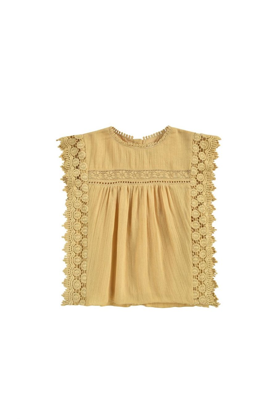 boheme chic vintage blouse fille adolio soft honey