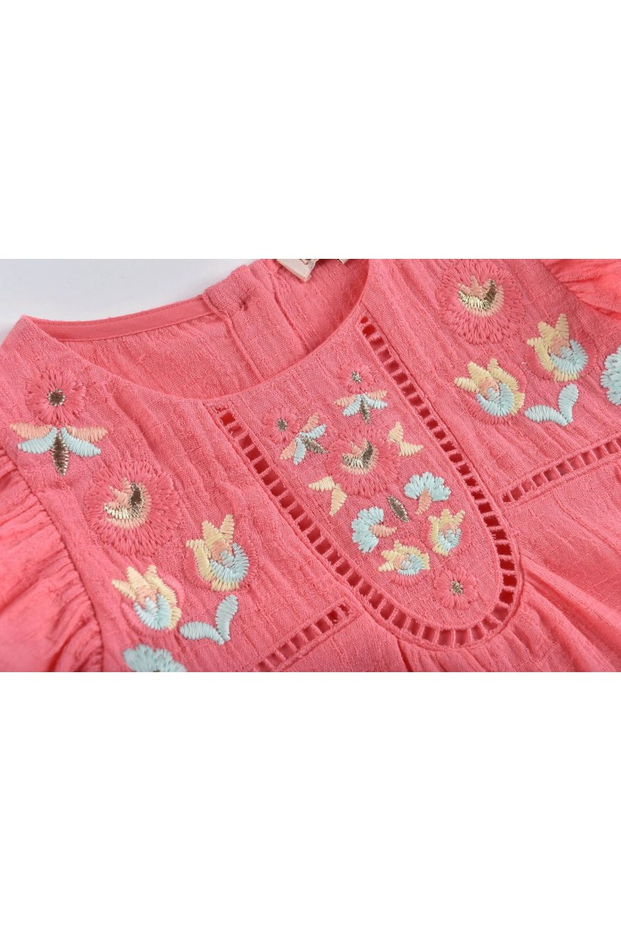 boheme chic vintage blouse fille carmen framboise
