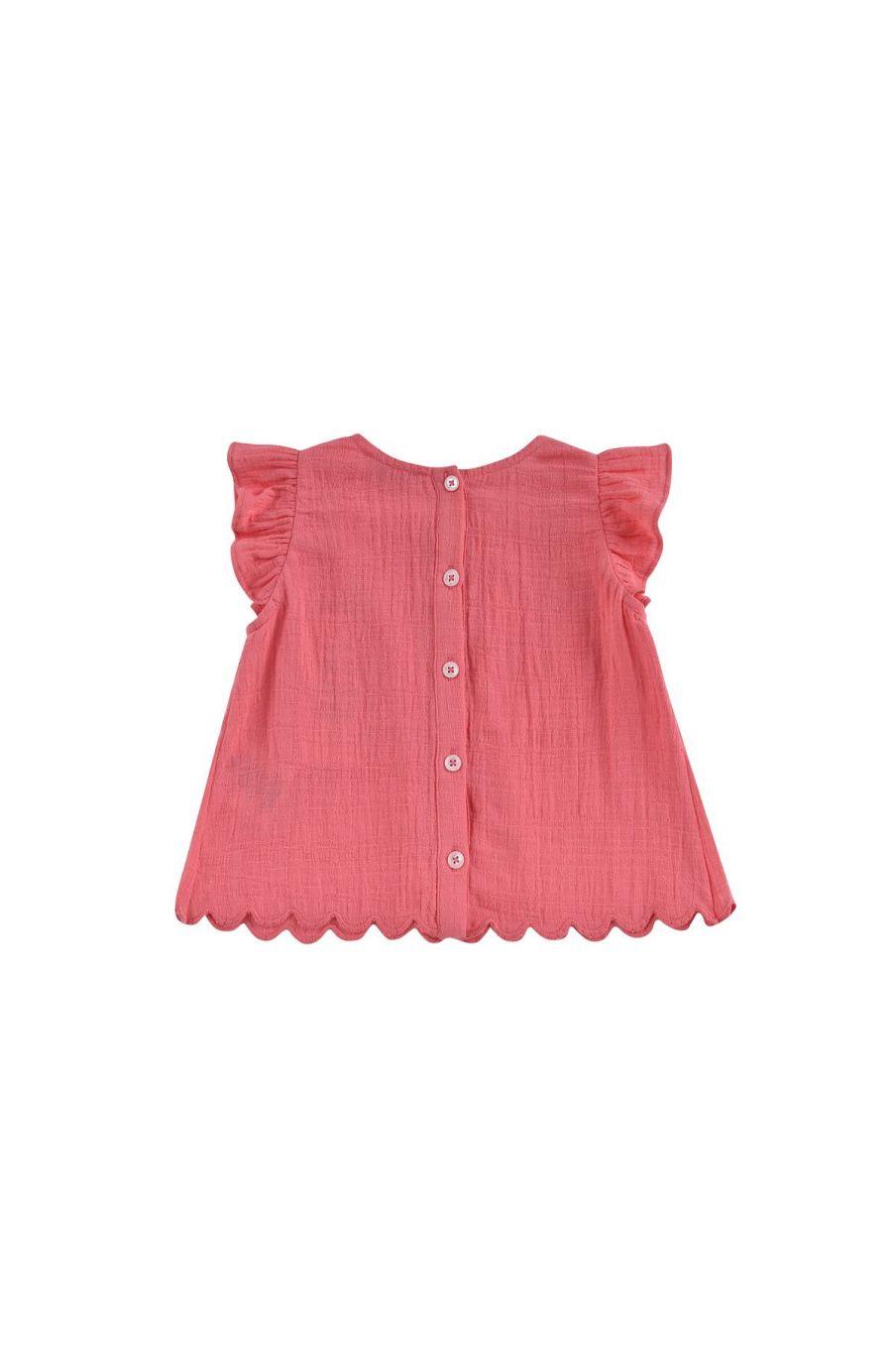 boheme chic vintage blouse bébé fille carmen framboise