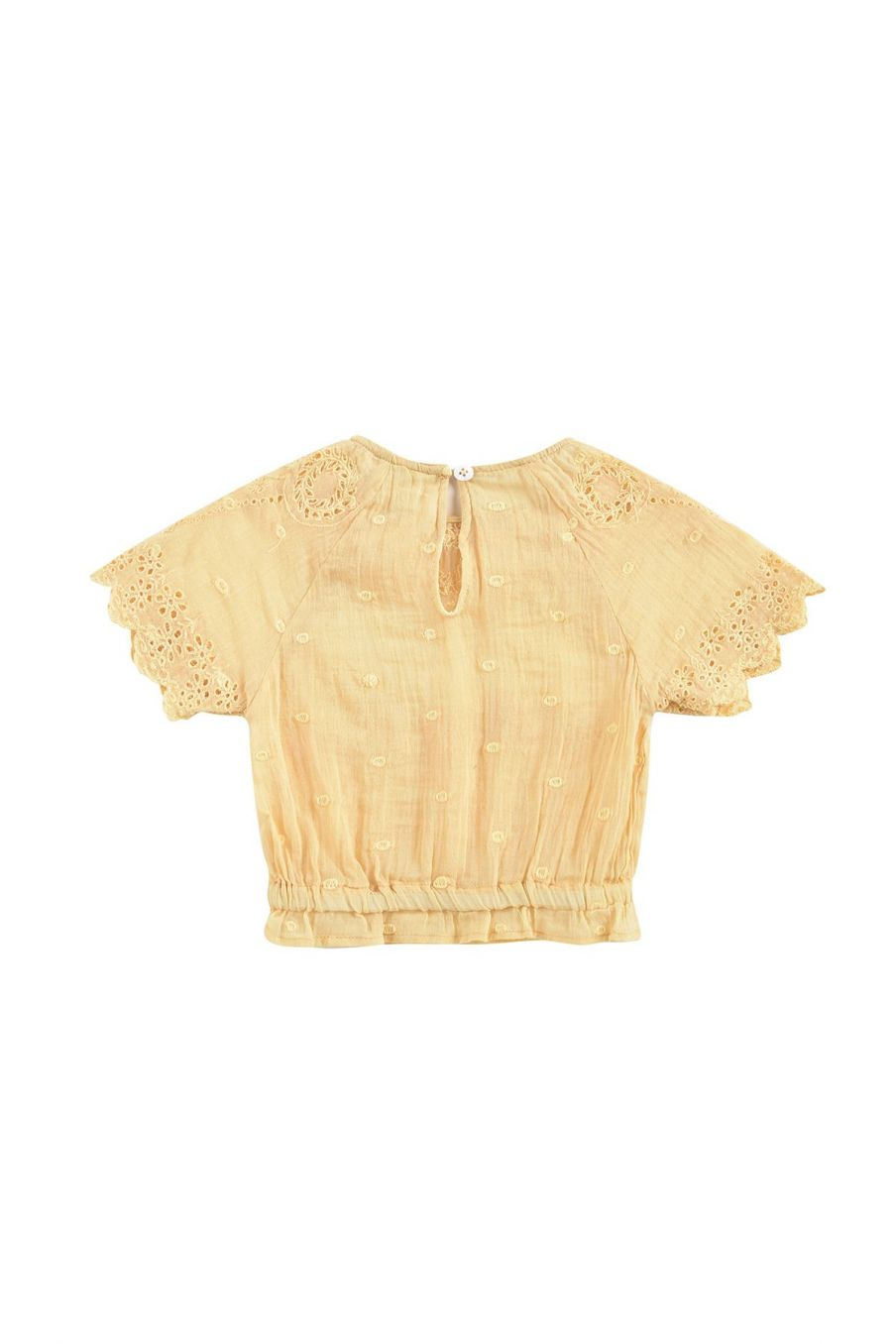 boheme chic vintage blouse bébé fille lina soft honey plumetis