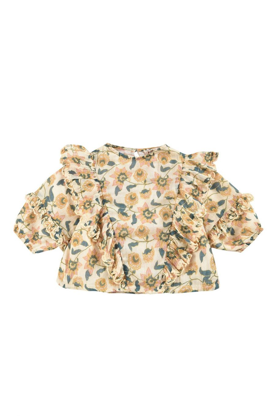 boheme chic vintage blouse bébé fille tubi cream flowers