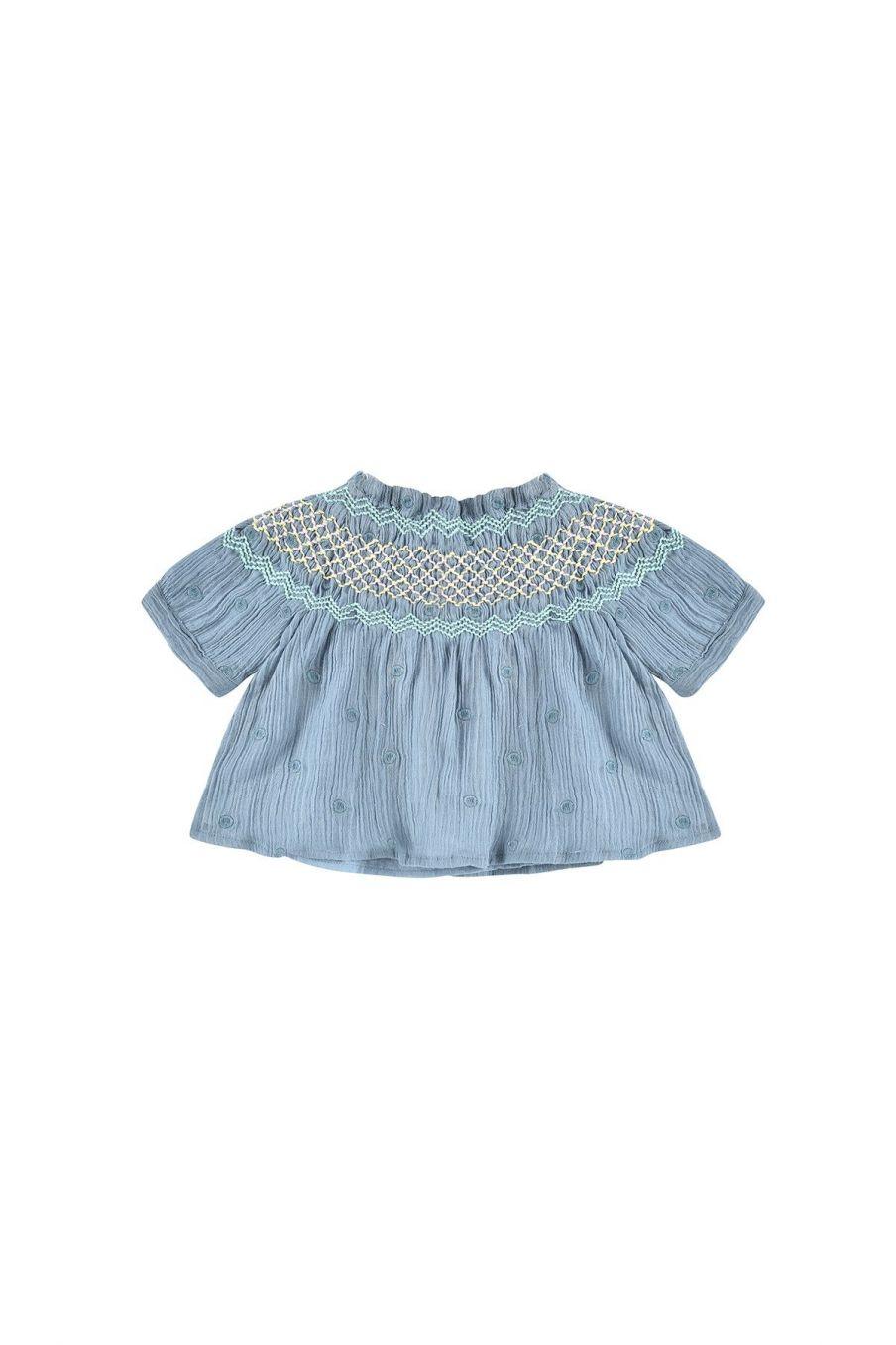 boheme chic vintage blouse bébé fille tyra storm plumetis