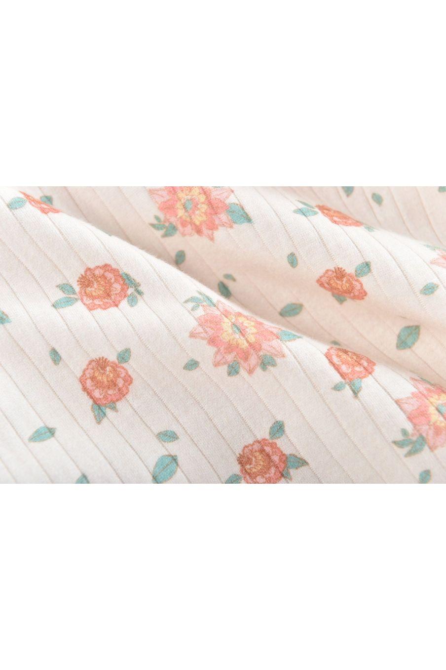 boheme chic vintage robe fille amita off-white flowers