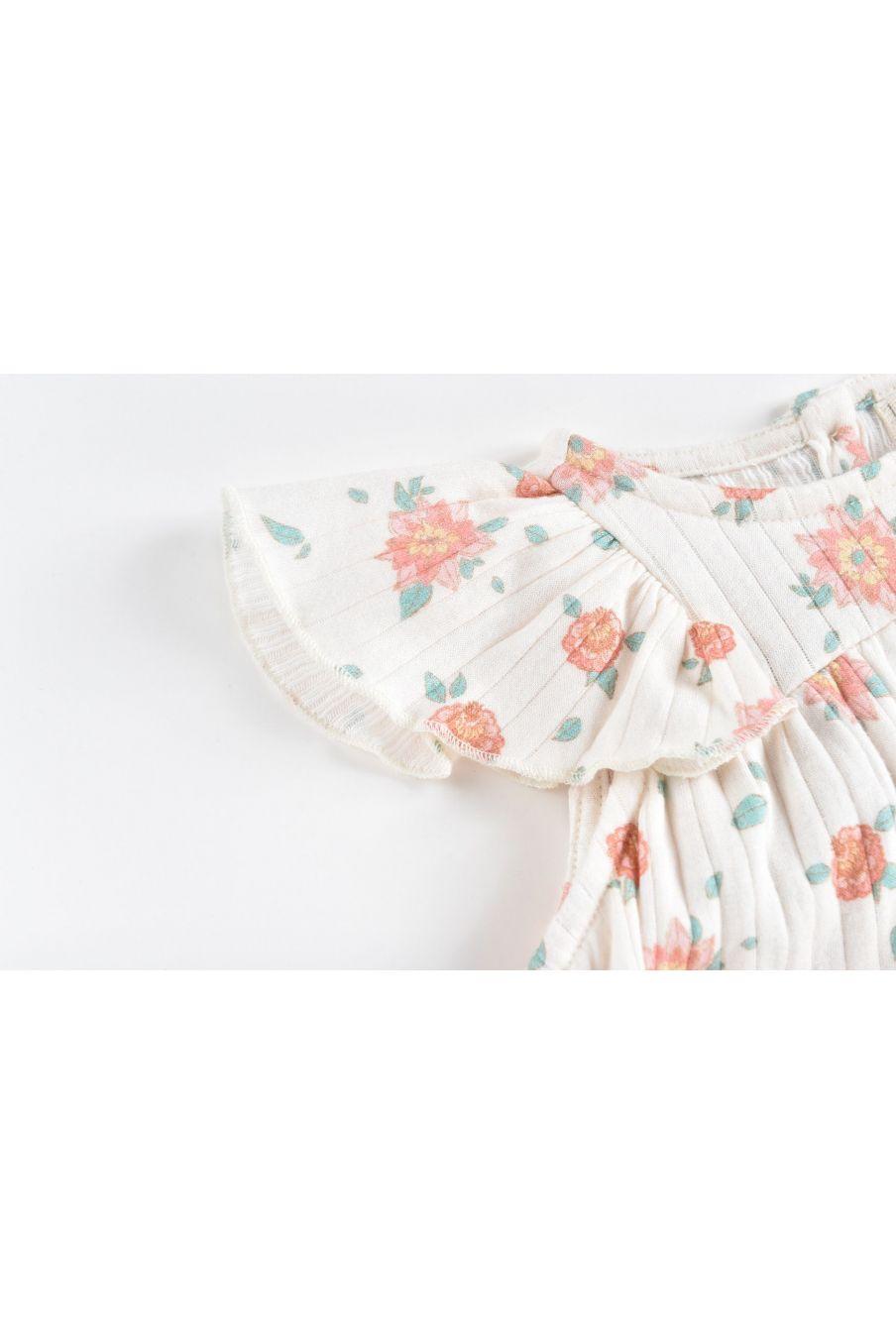 boheme chic vintage robe bébé fille amita off-white flowers