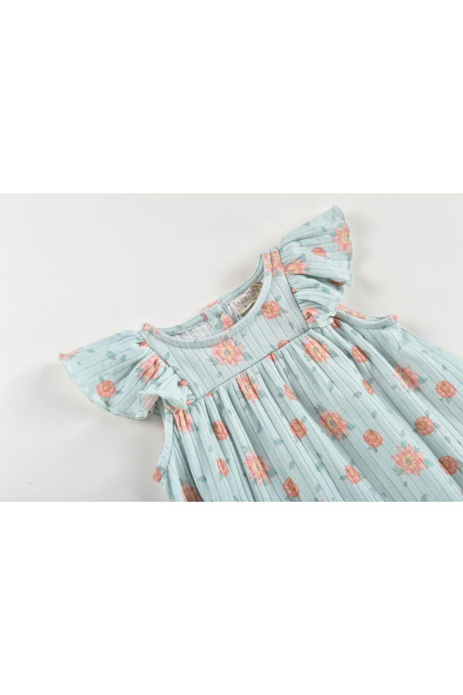 boheme chic vintage robe fille amita vintage blue flowers