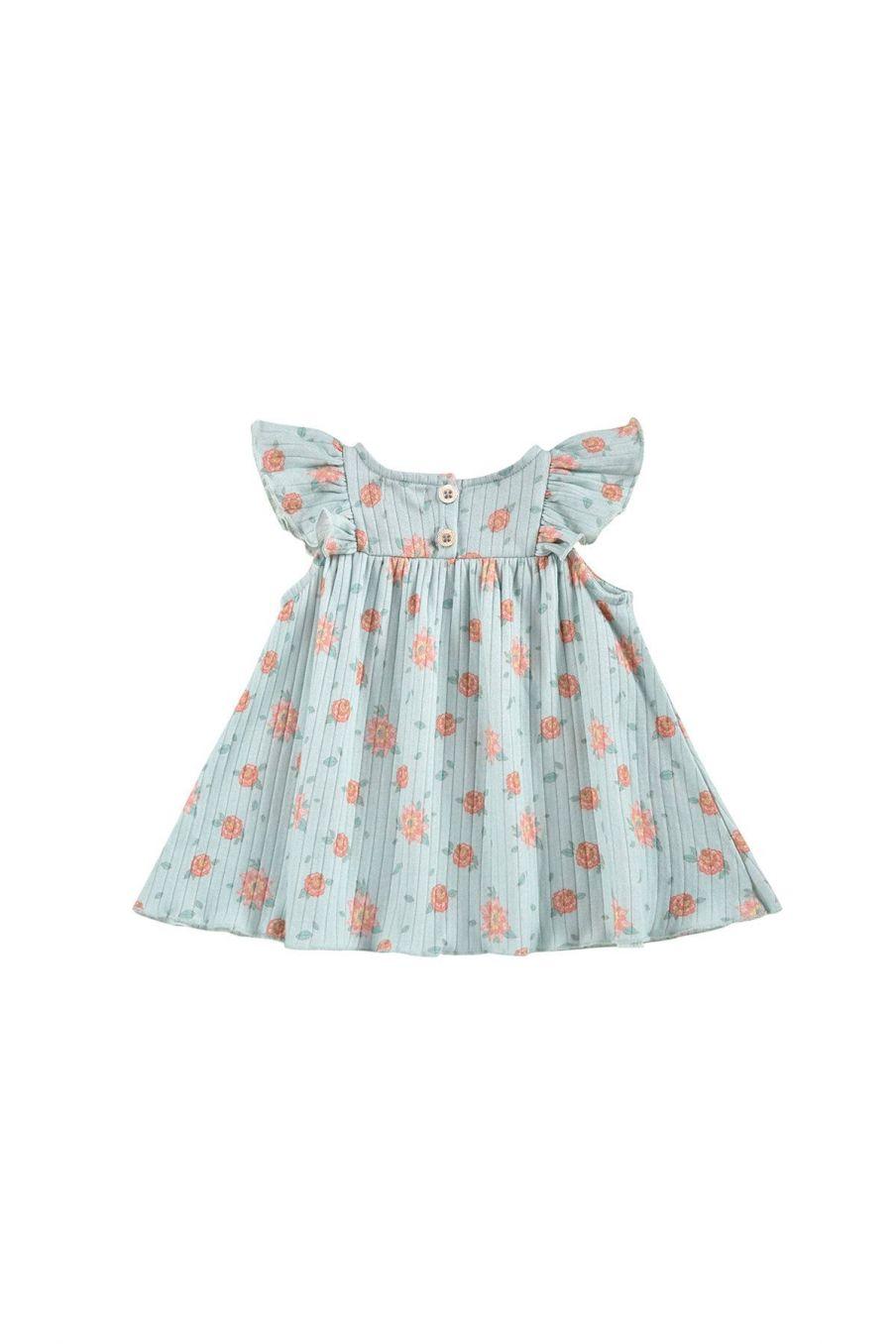 boheme chic vintage robe bébé fille amita vintage blue flowers