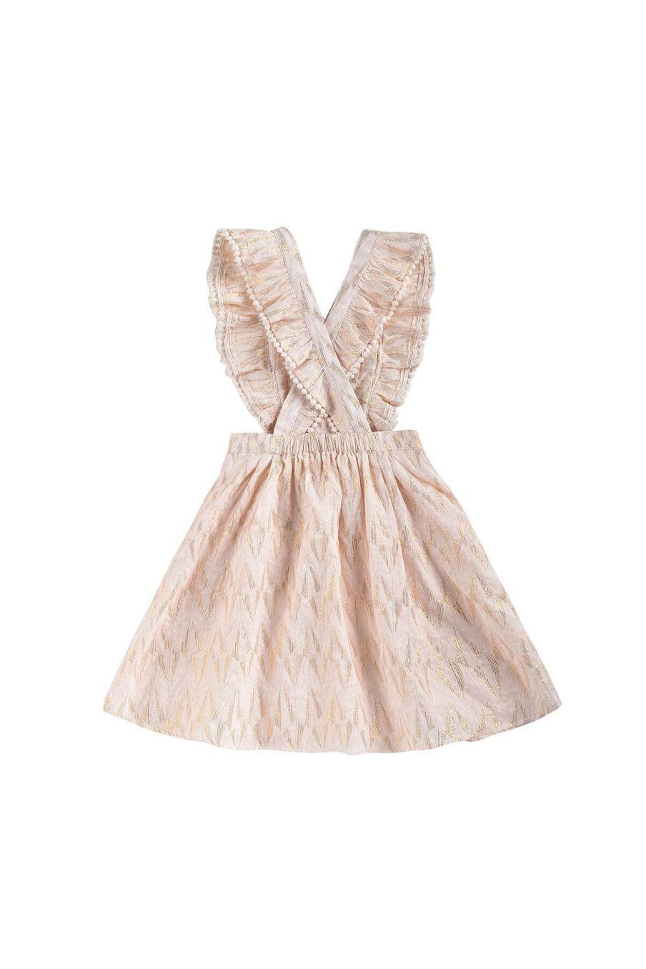 boheme chic vintage robe fille asili blush psyche lurex