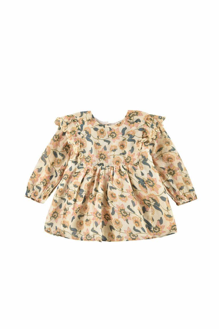 boheme chic vintage robe bébé fille bisiali cream flowers