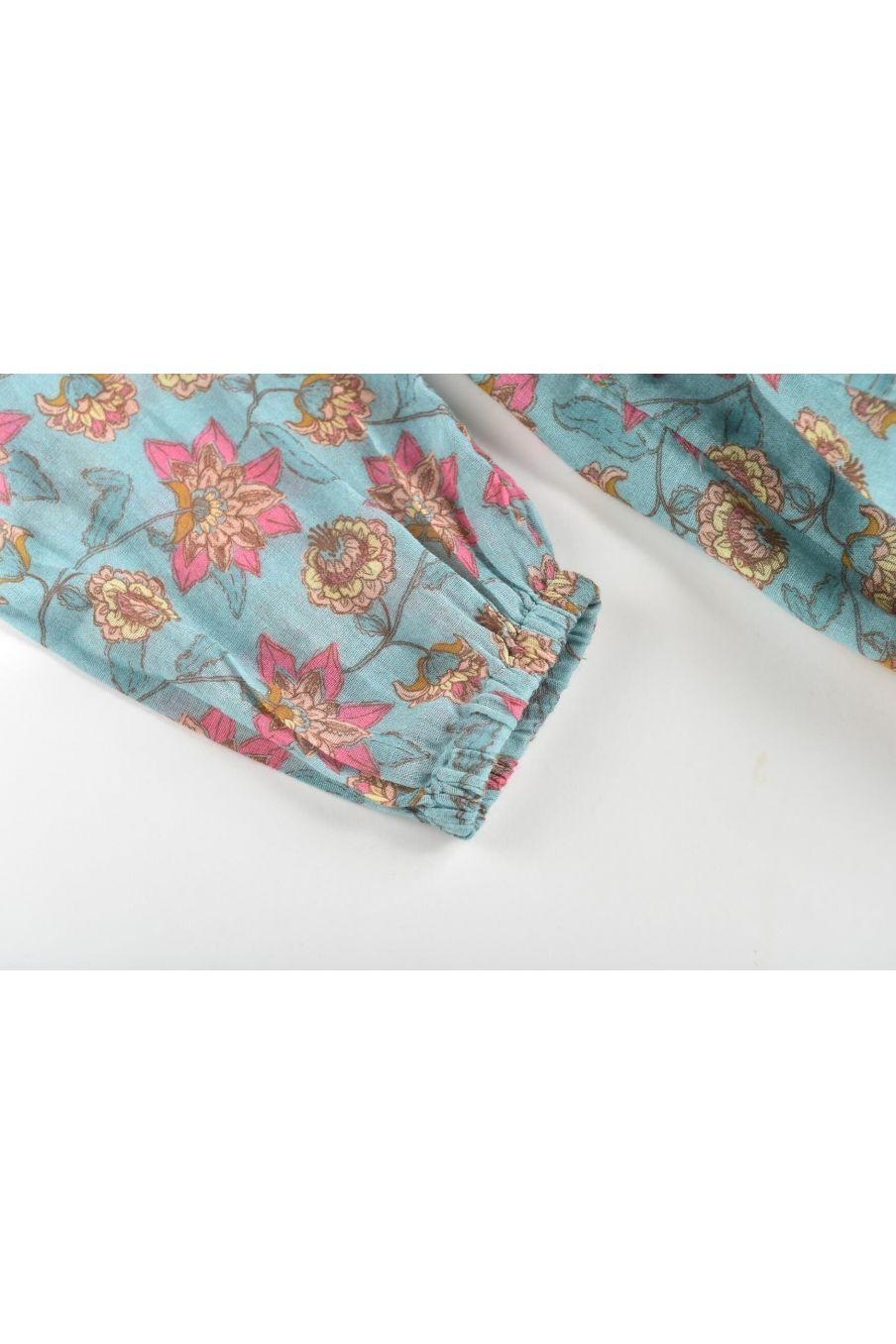 boheme chic vintage robe fille bisiali turquoise flowers