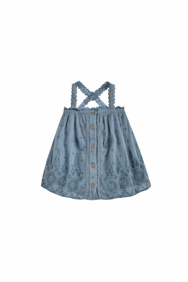 boheme chic vintage robe bébé fille guananina storm plumetis