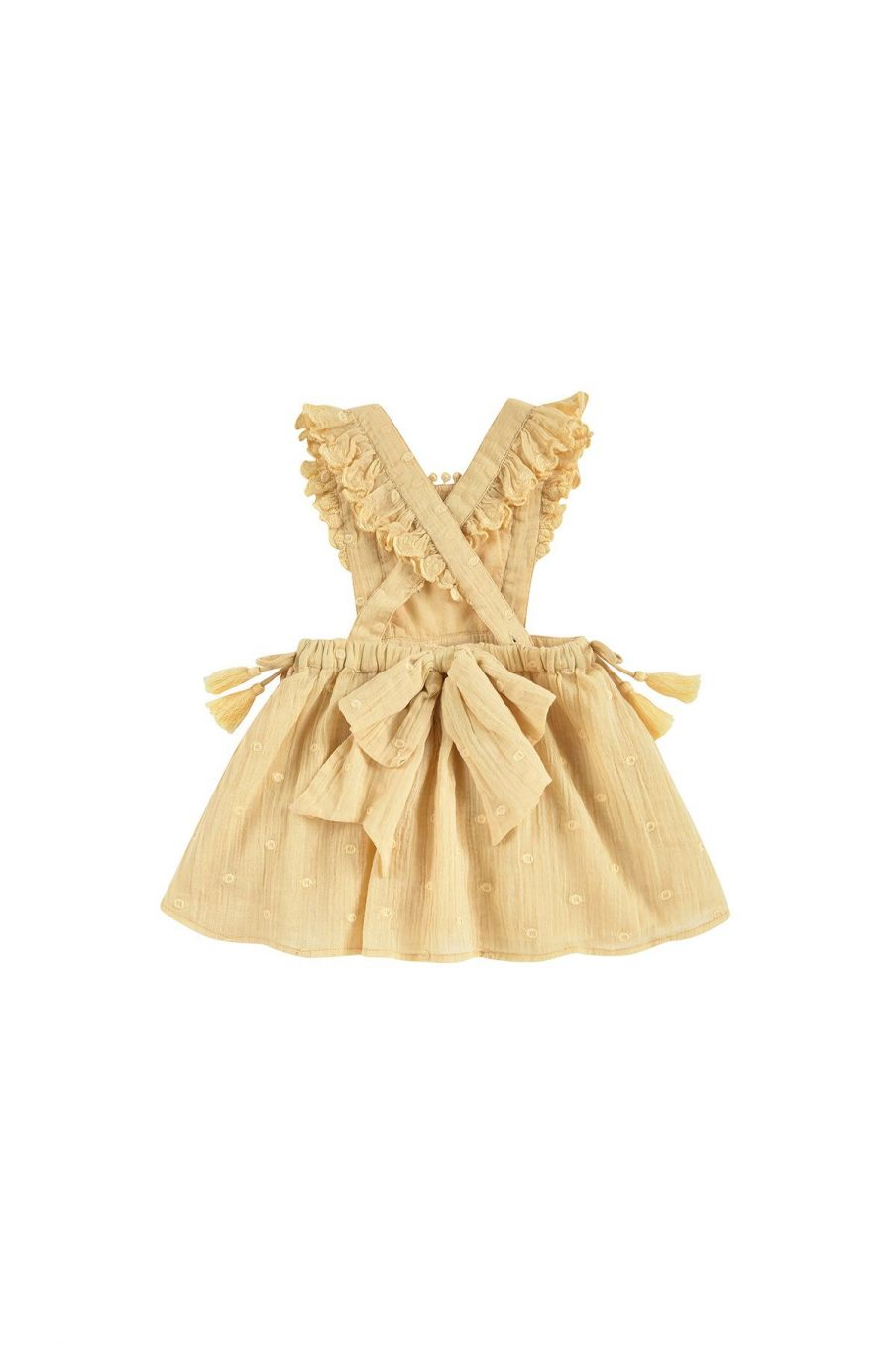 boheme chic vintage robe bébé fille huguette soft honey plumetis