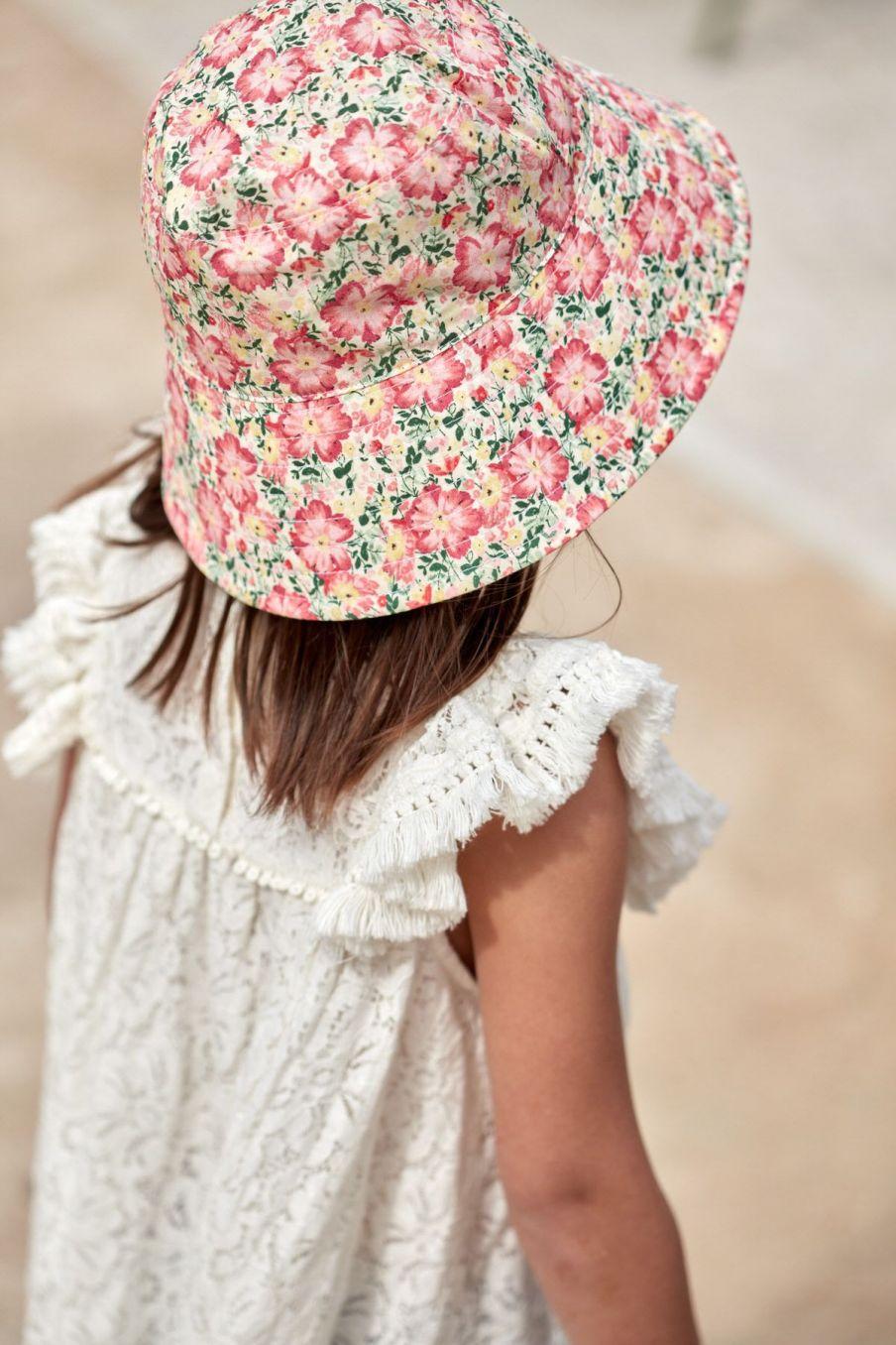 boheme chic vintage robe fille janice cream lace