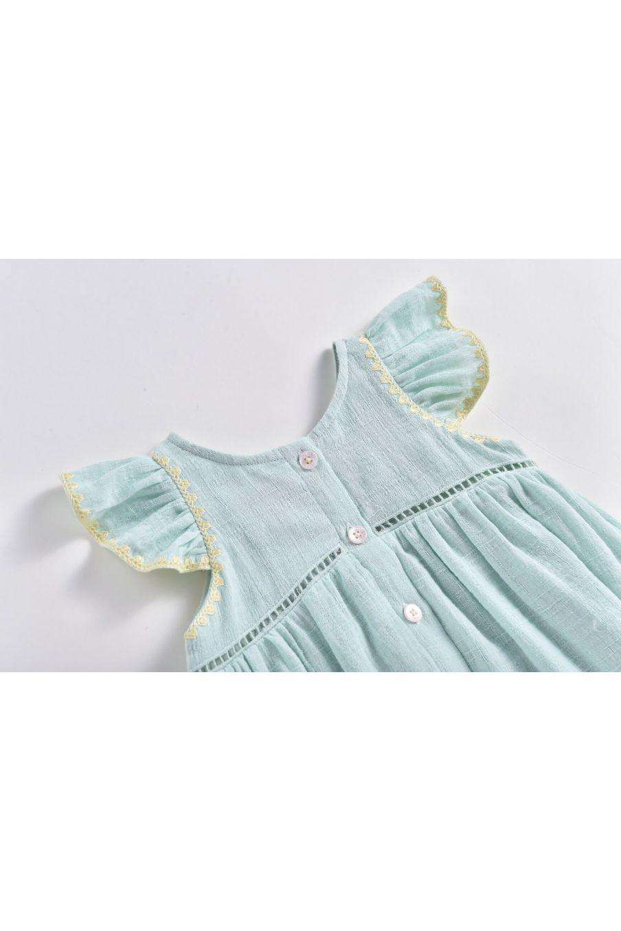 boheme chic vintage robe bébé fille jendahiu amande