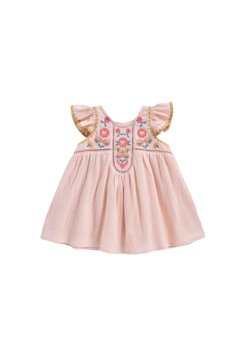 boheme chic vintage robe bébé fille jendahiu blush