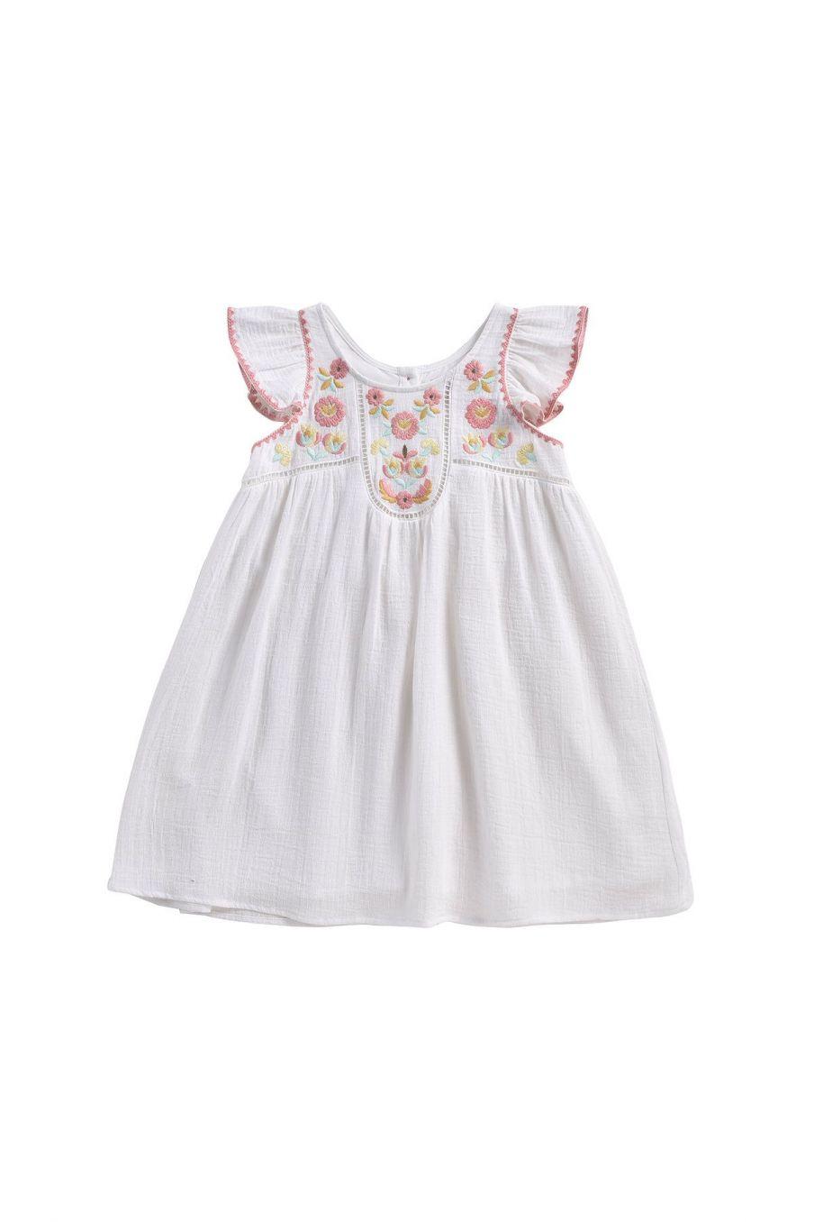 boheme chic vintage robe fille jendahiu ecru