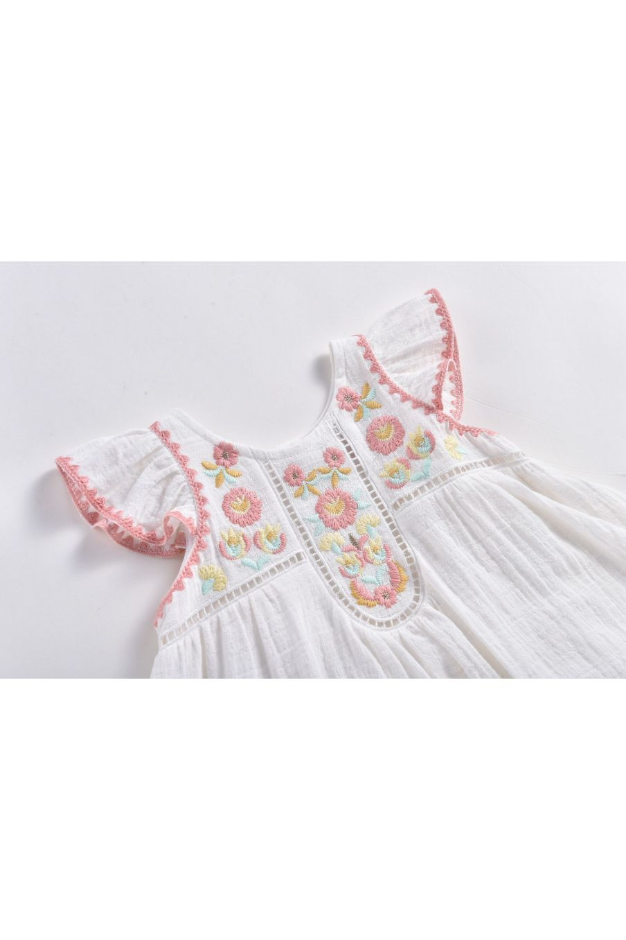 boheme chic vintage robe bébé fille jendahiu ecru