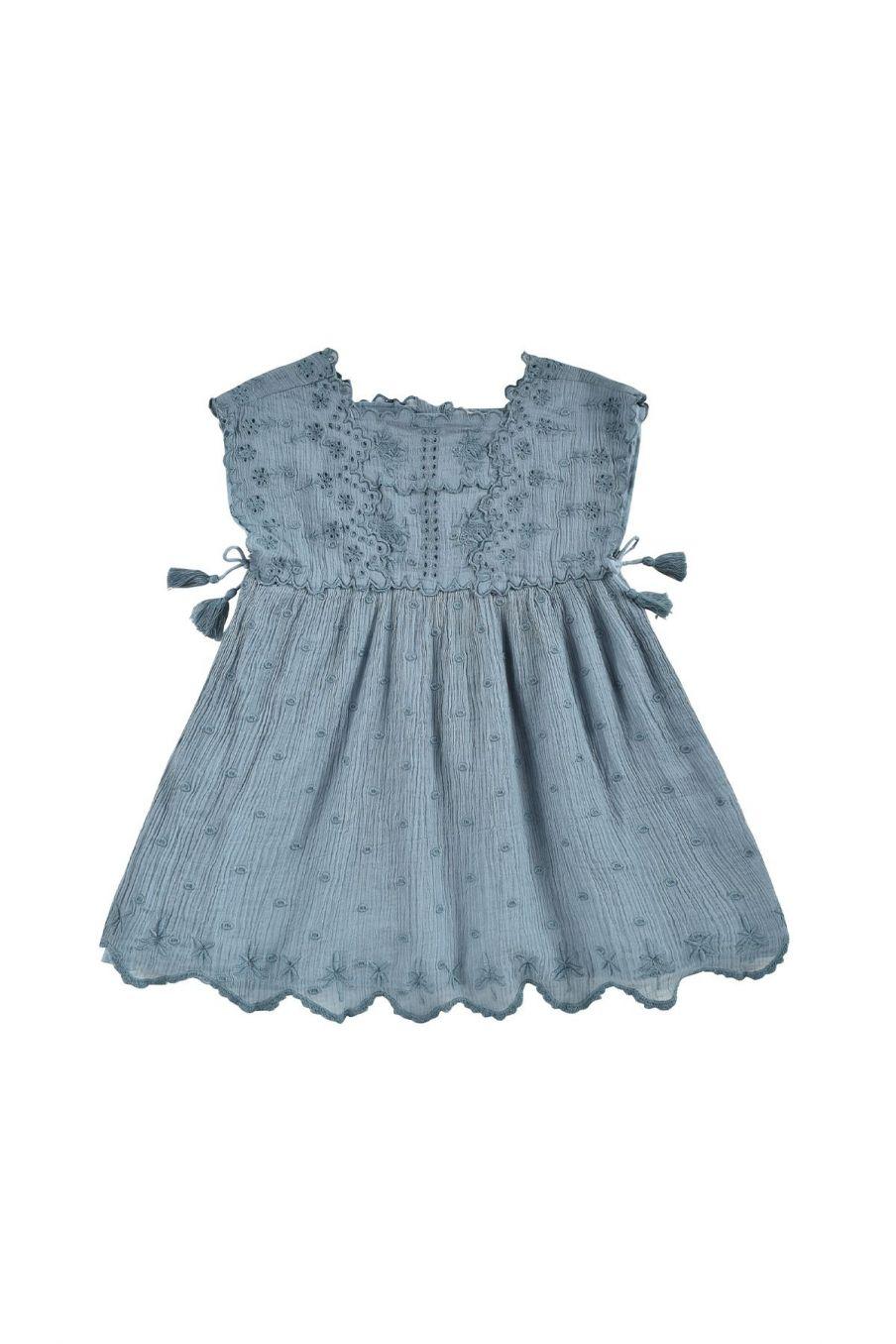 boheme chic vintage robe fille leilani storm plumetis