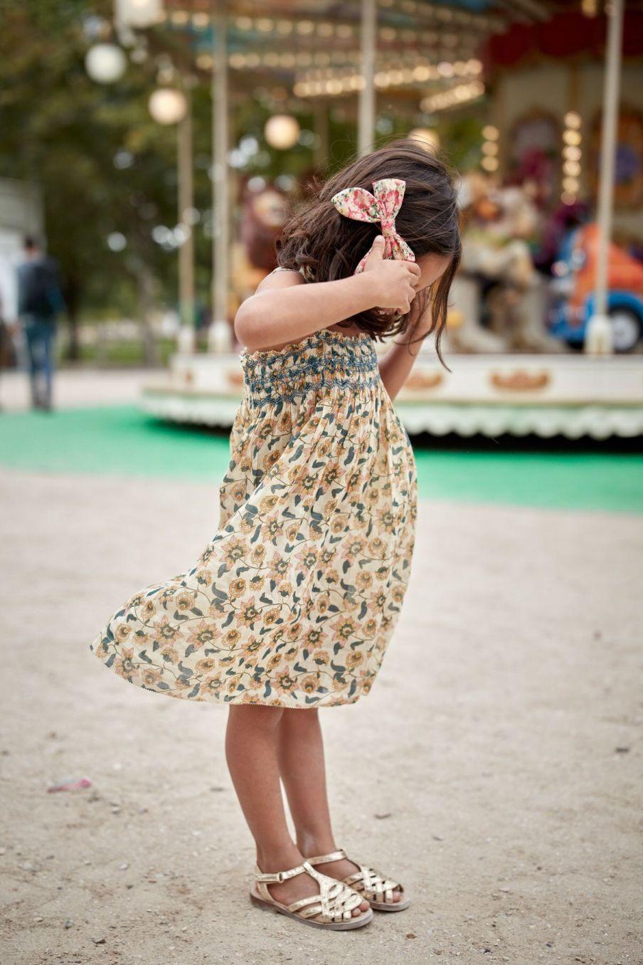 boheme chic vintage robe fille marceline cream flowers