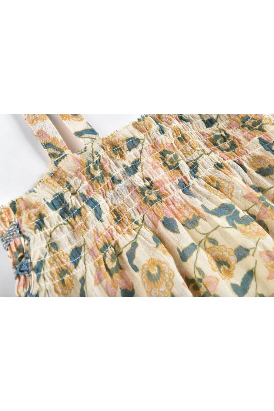 boheme chic vintage robe bébé fille marceline cream flowers