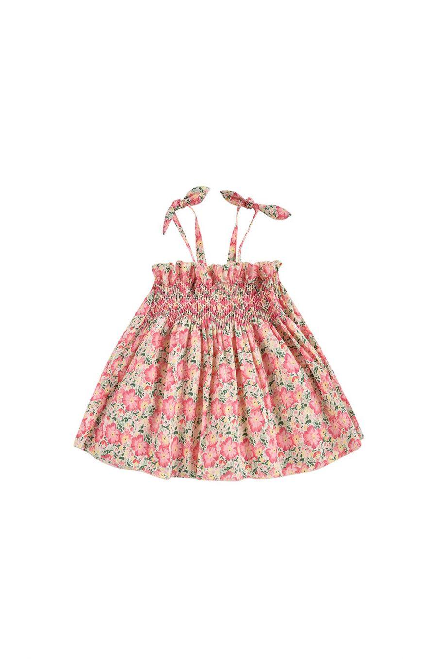 boheme chic vintage robe bébé fille marceline pink meadow