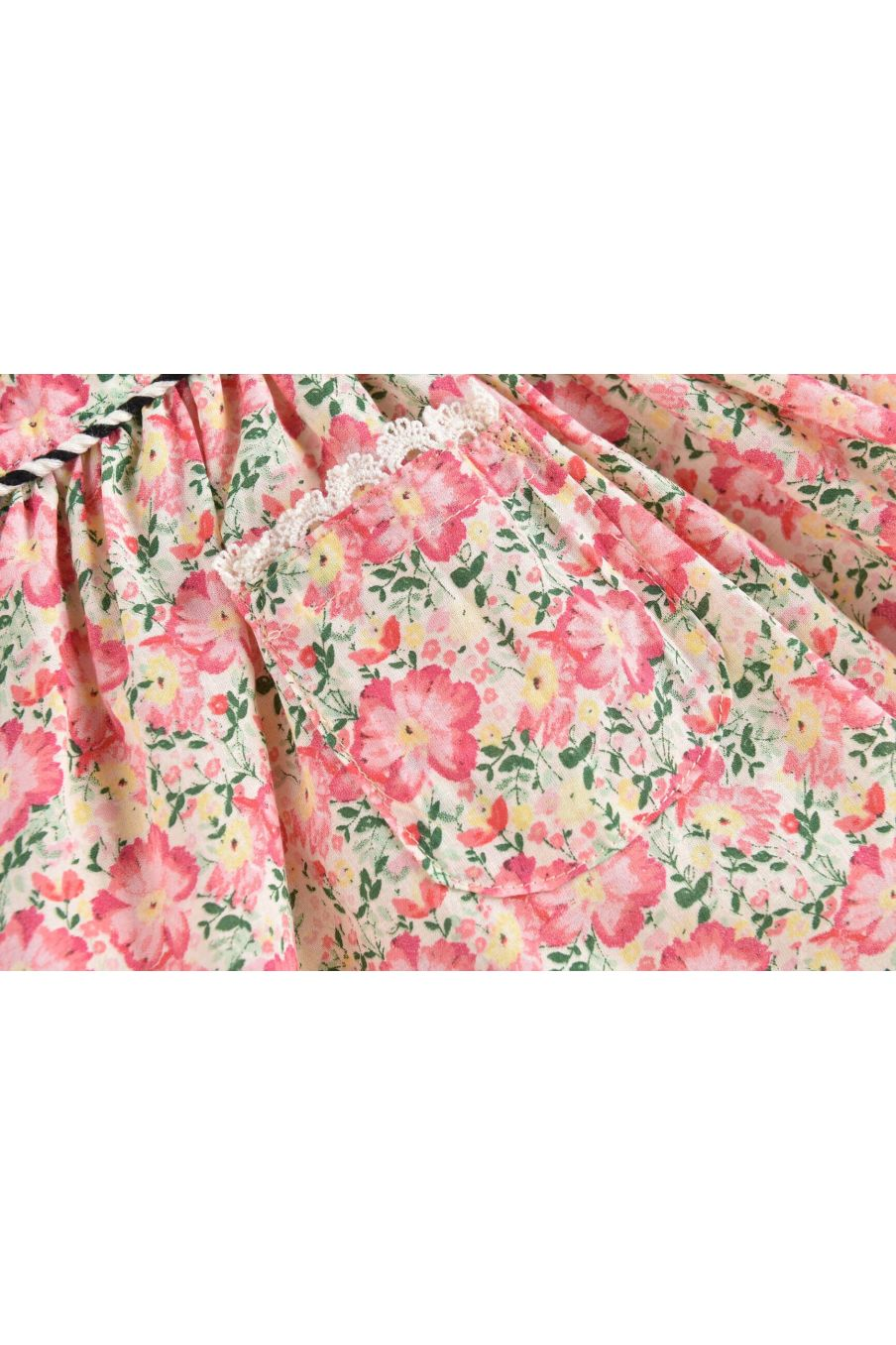 boheme chic vintage robe fille mistinguette pink meadow