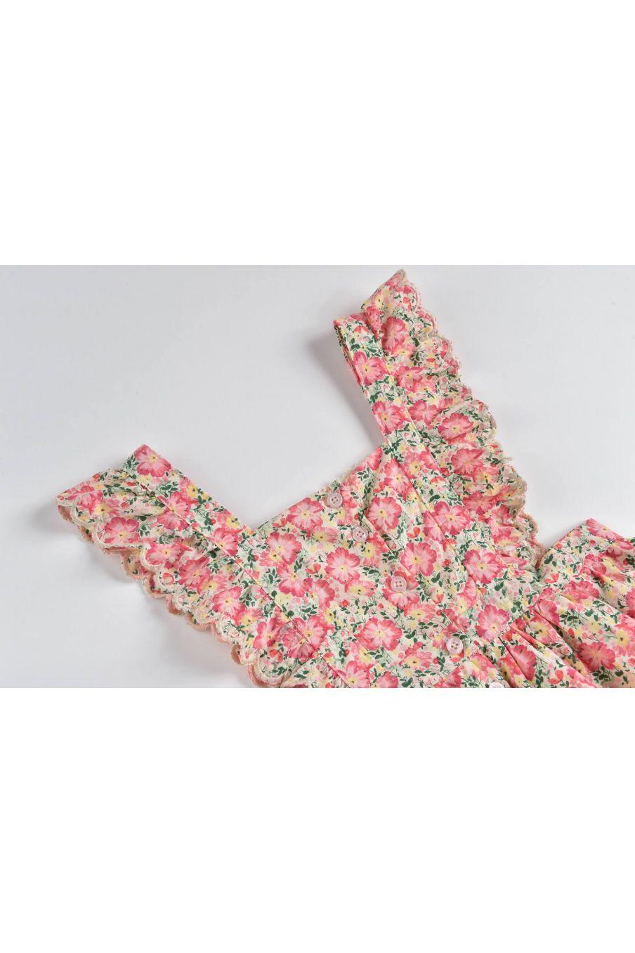 boheme chic vintage robe bébé fille mistinguette pink meadow