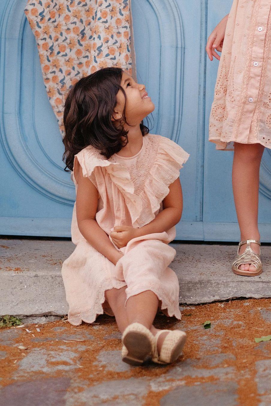 boheme chic vintage robe fille noalia sienna plumetis