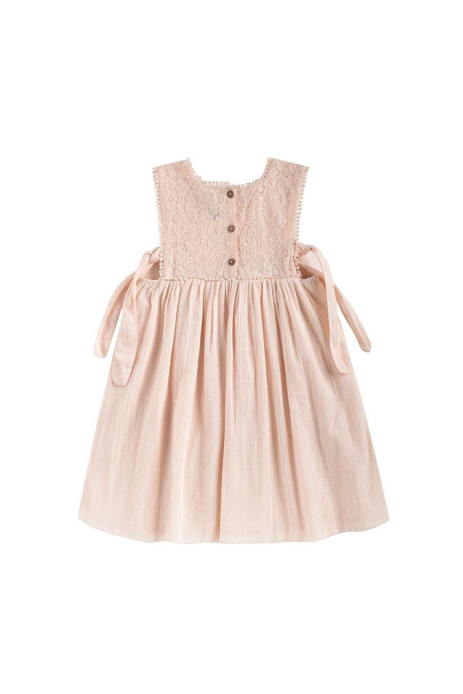 boheme chic vintage robe fille paolina blush