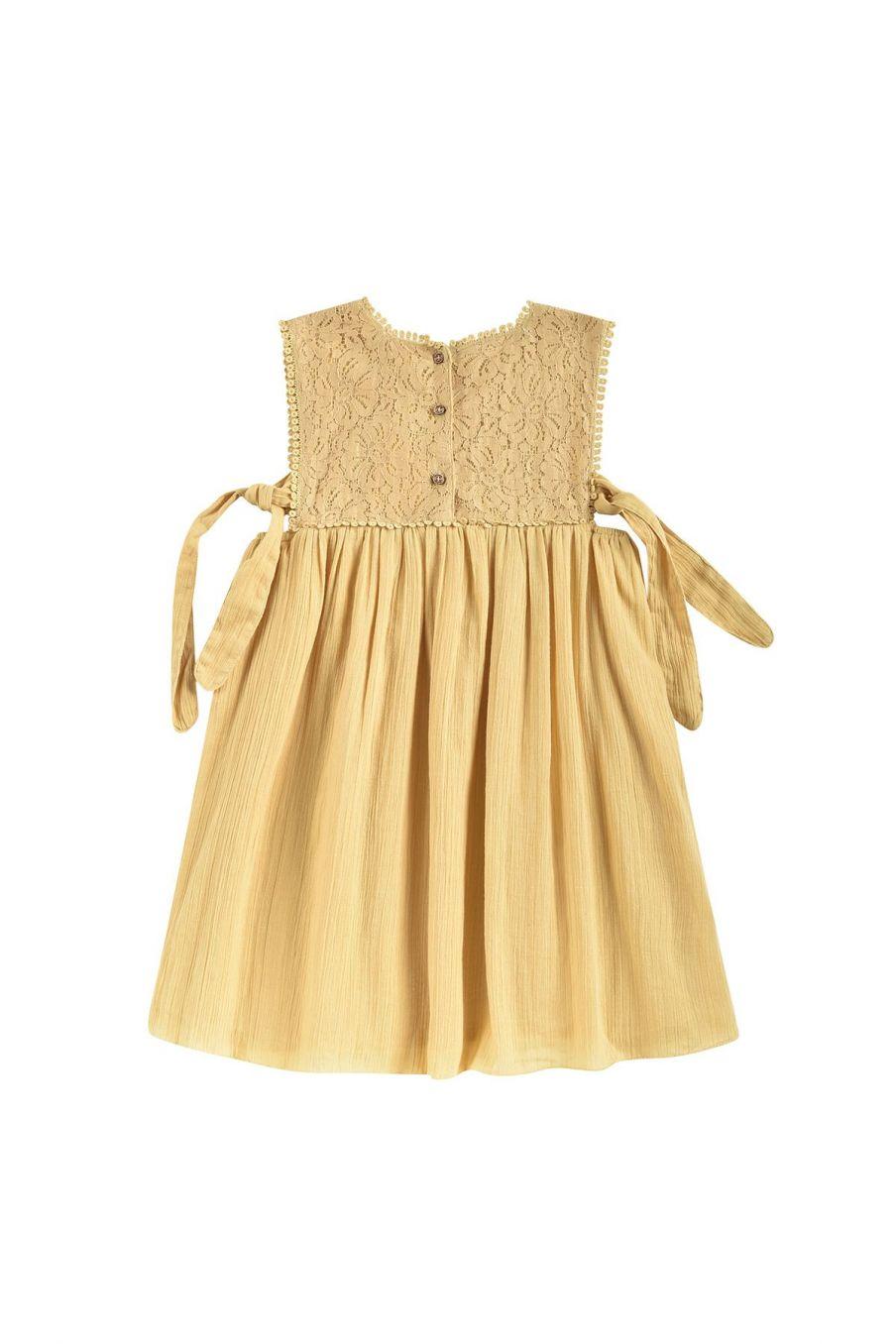boheme chic vintage robe fille paolina soft honey