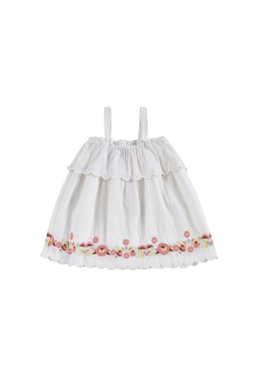 boheme chic vintage robe bébé fille solane ecru