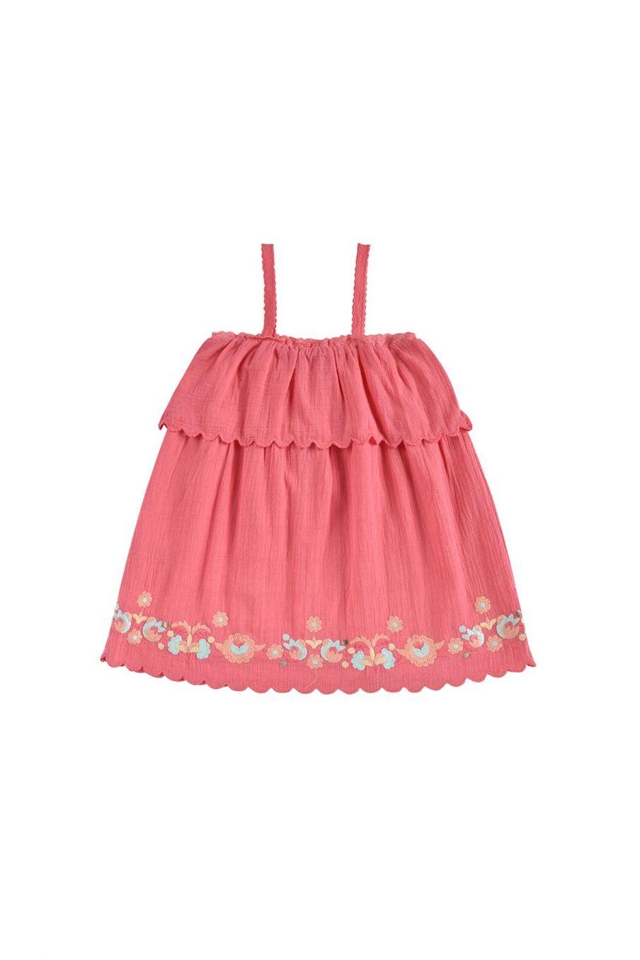 boheme chic vintage robe fille solane framboise