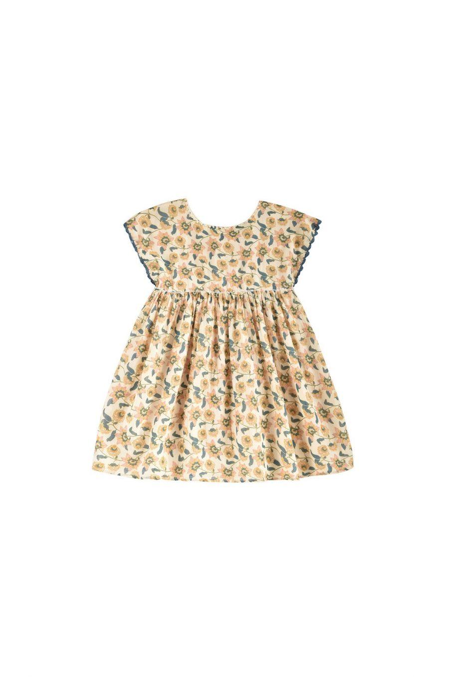 boheme chic vintage robe fille tapalpa cream flowers