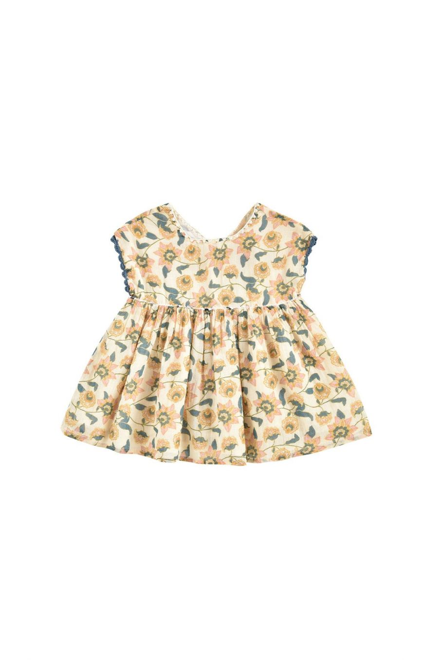 boheme chic vintage robe bébé fille tapalpa cream flowers