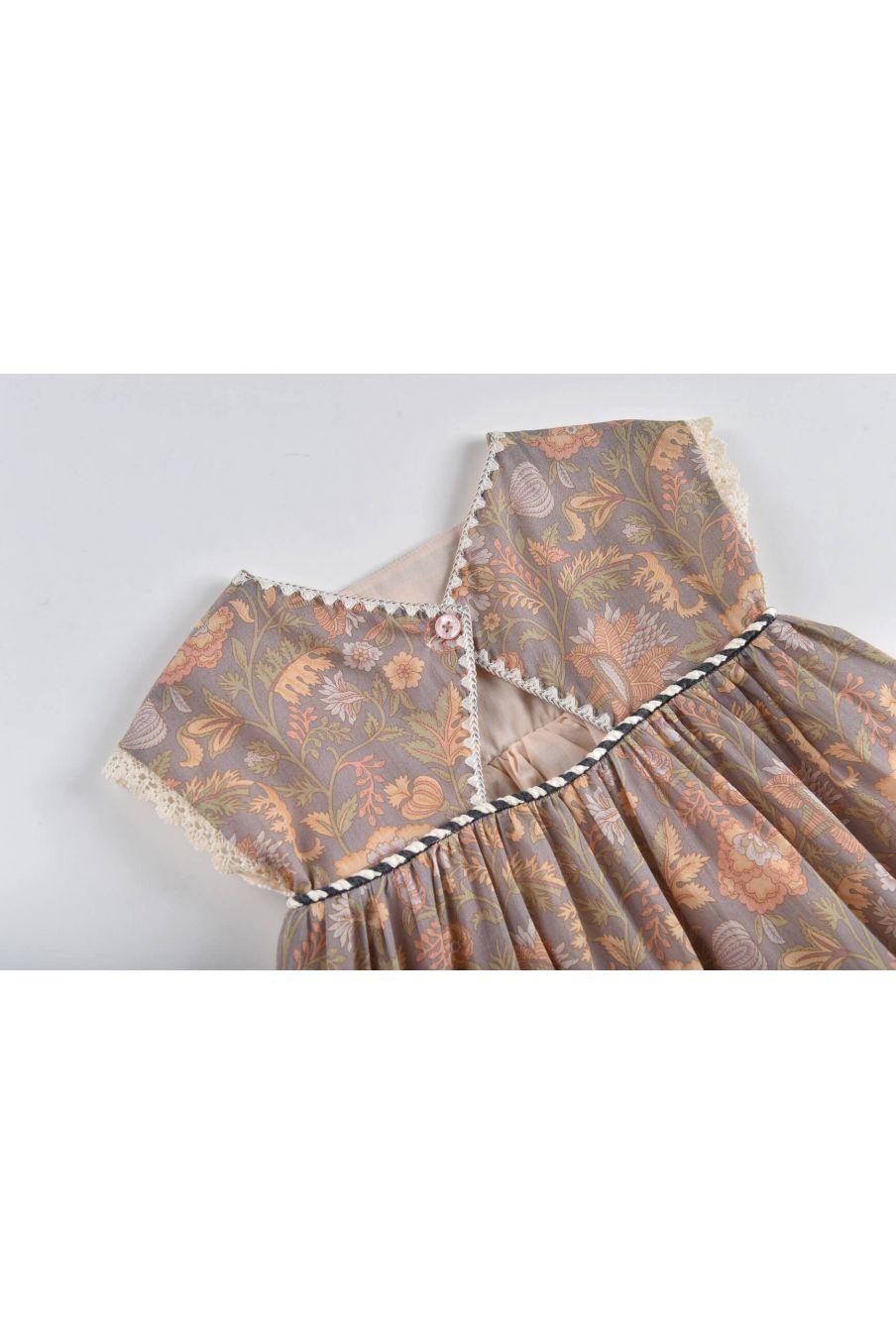 boheme chic vintage robe fille tapalpa grey california flowers