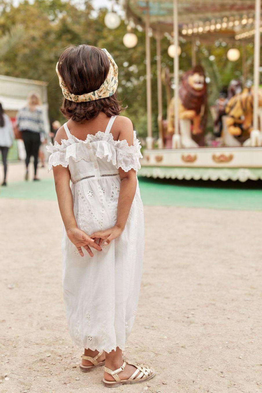 boheme chic vintage bandeau bébé fille yuriria cream flowers