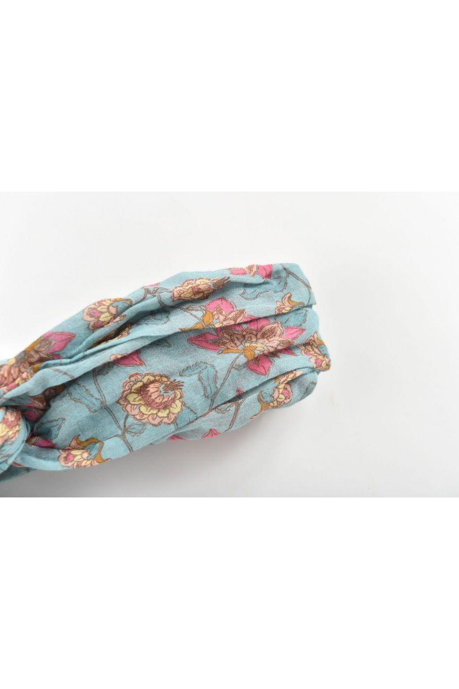 boheme chic vintage bandeau bébé fille yuriria turquoise flowers