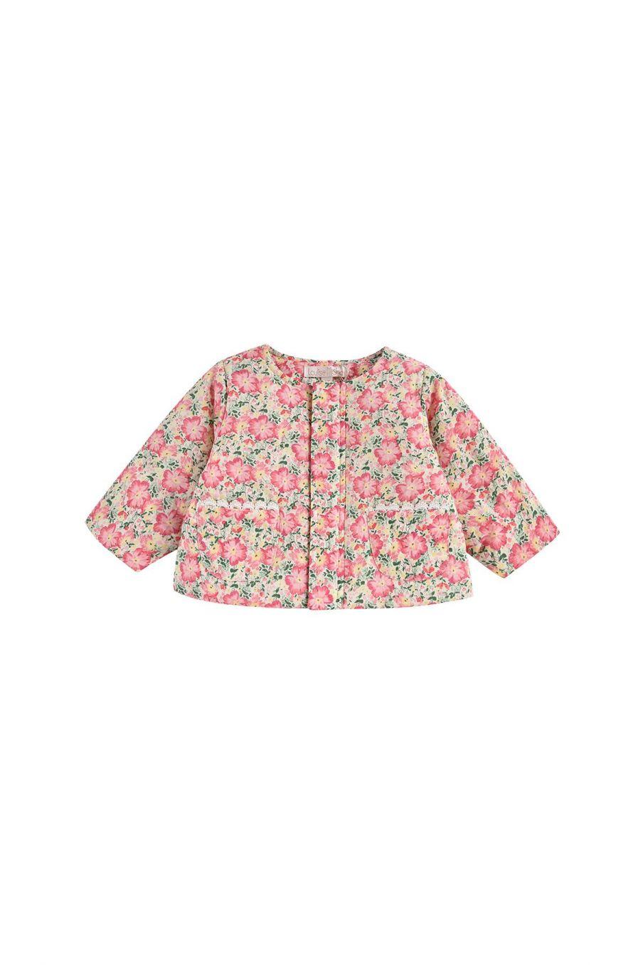 boheme chic vintage veste bébé fille soluta pink meadow