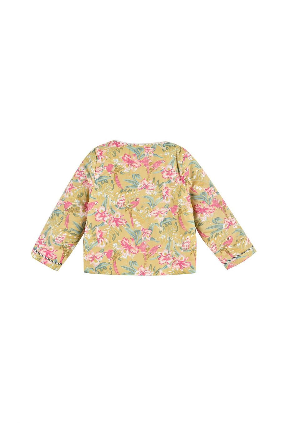 boheme chic vintage veste fille soluta soft honey parrots