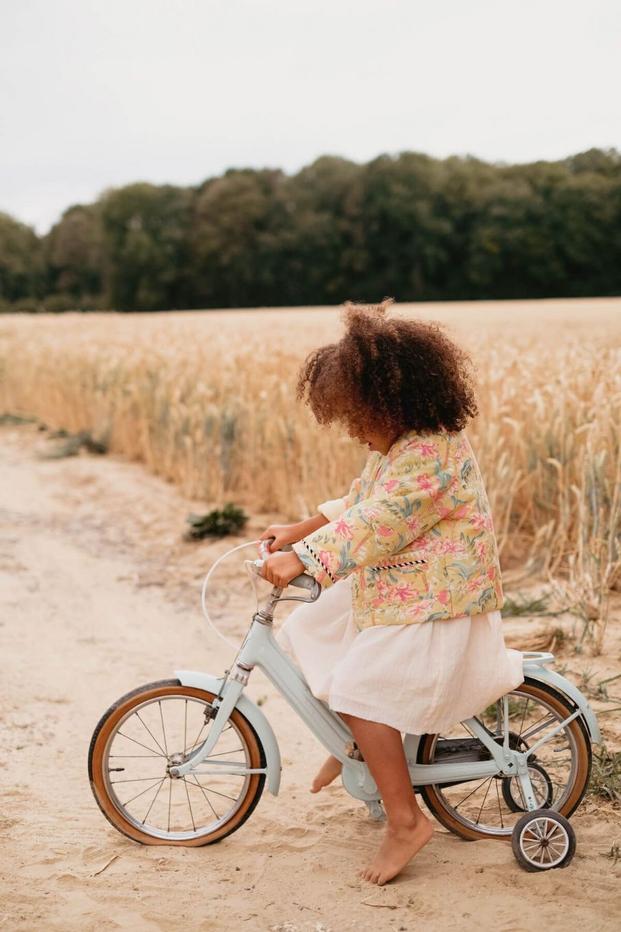 boheme chic vintage veste bébé fille soluta soft honey parrots