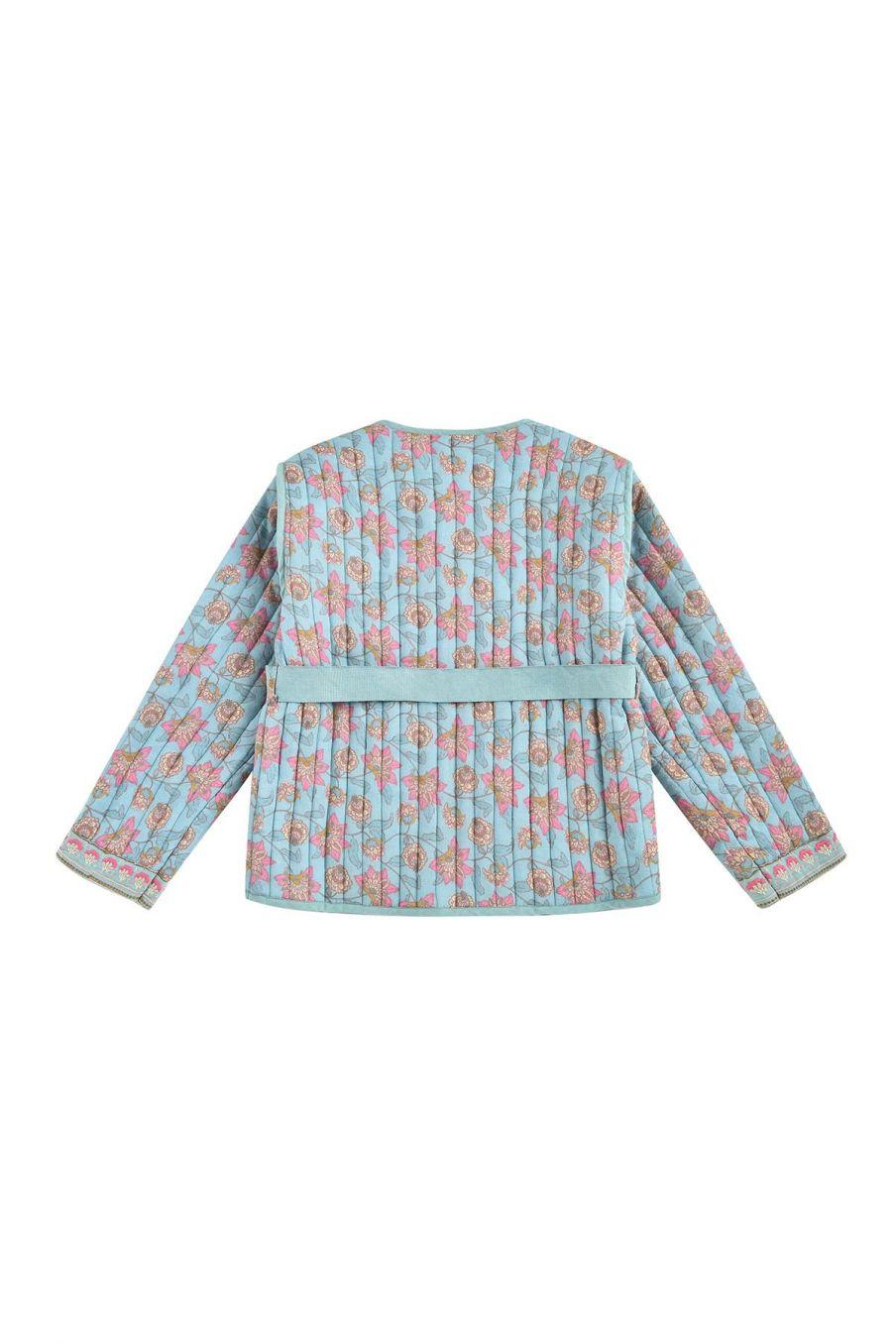 boheme chic vintage veste fille teliani turquoise flowers