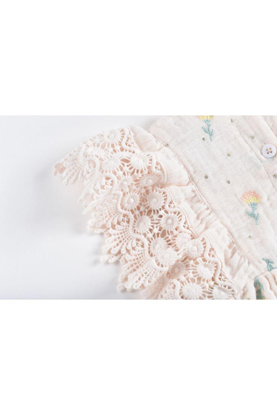 boheme chic vintage combinaison fille agaro blush dandelion flowers