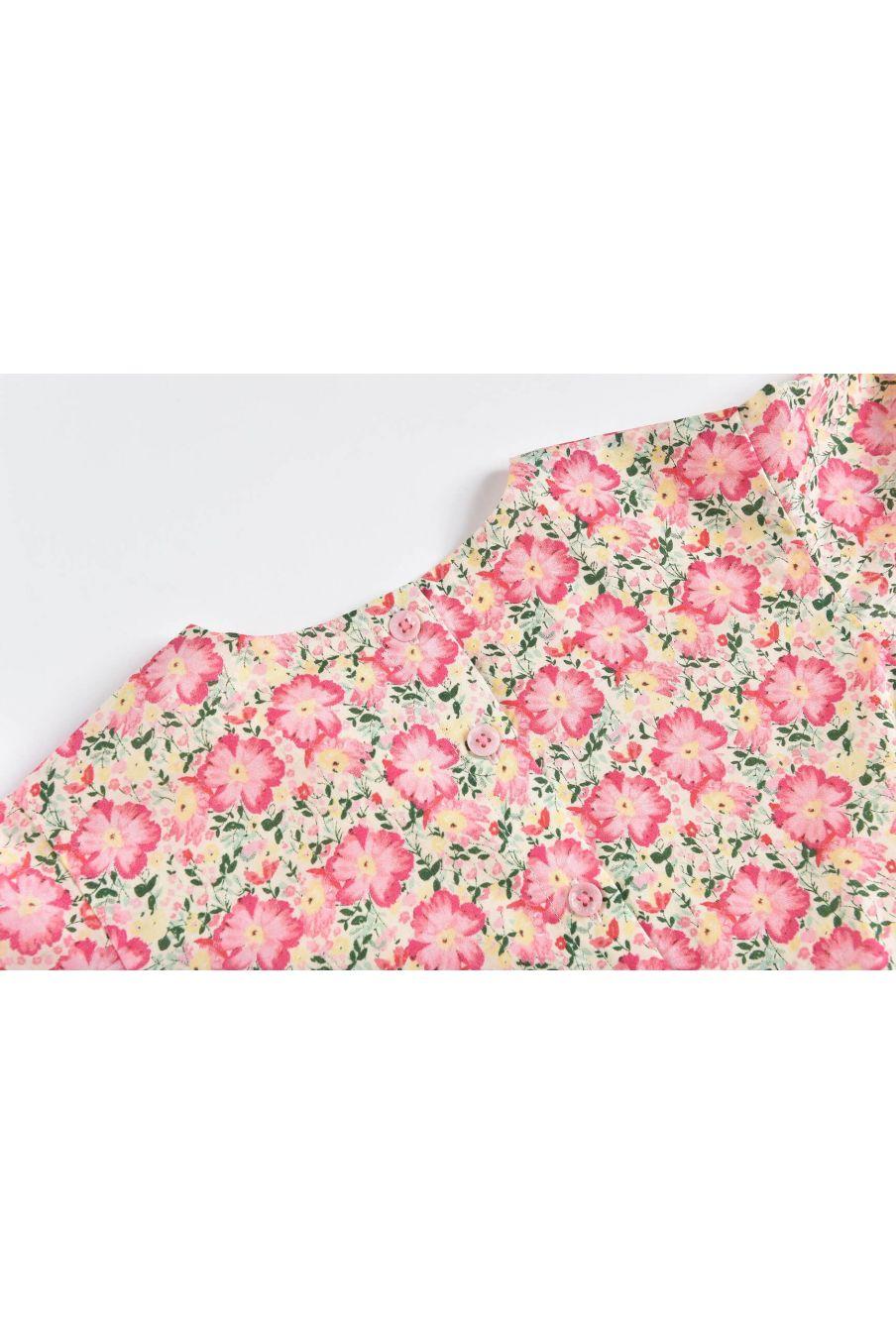 boheme chic vintage combinaison fille mayalia pink meadow