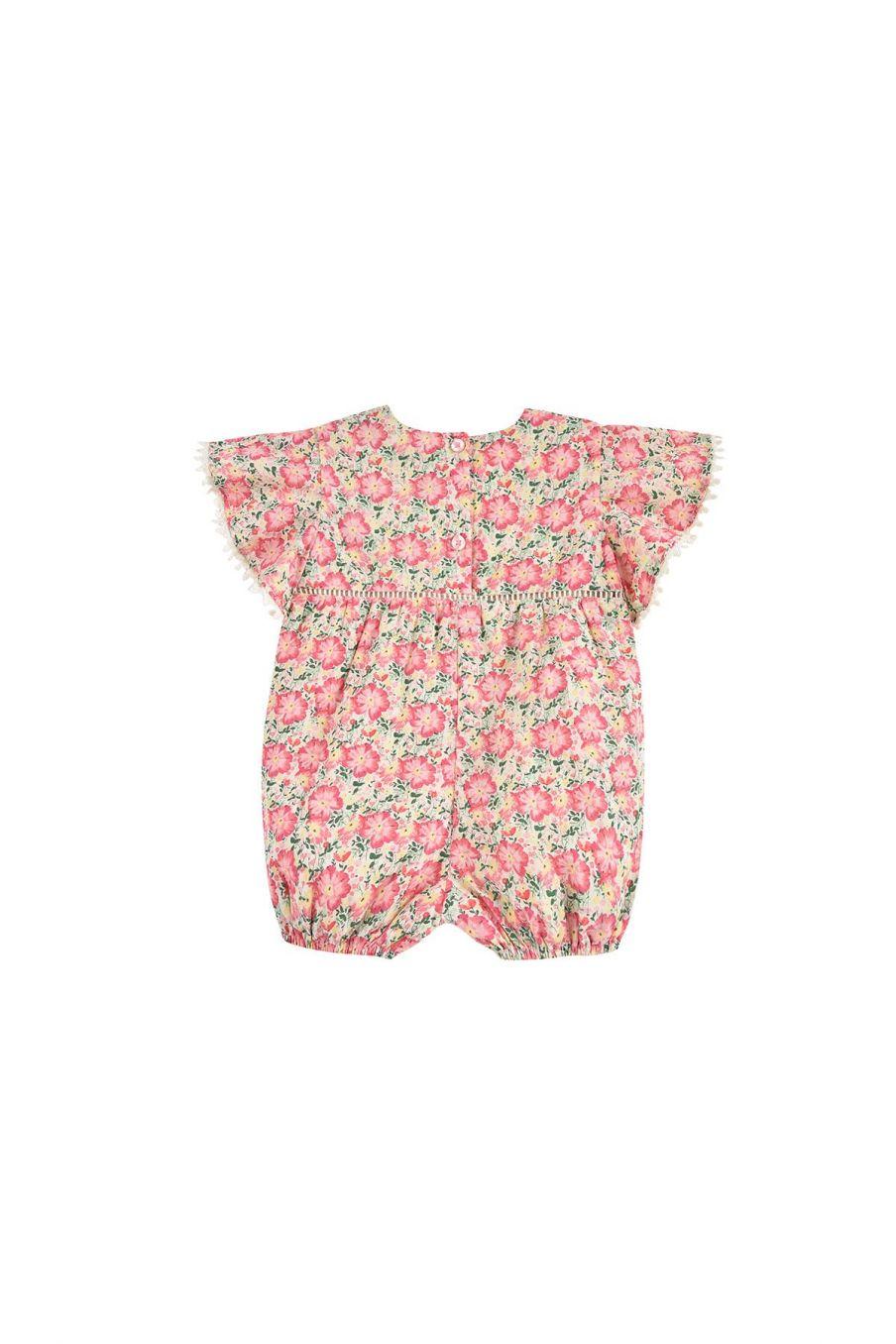 boheme chic vintage combinaison bébé fille mayalia pink meadow