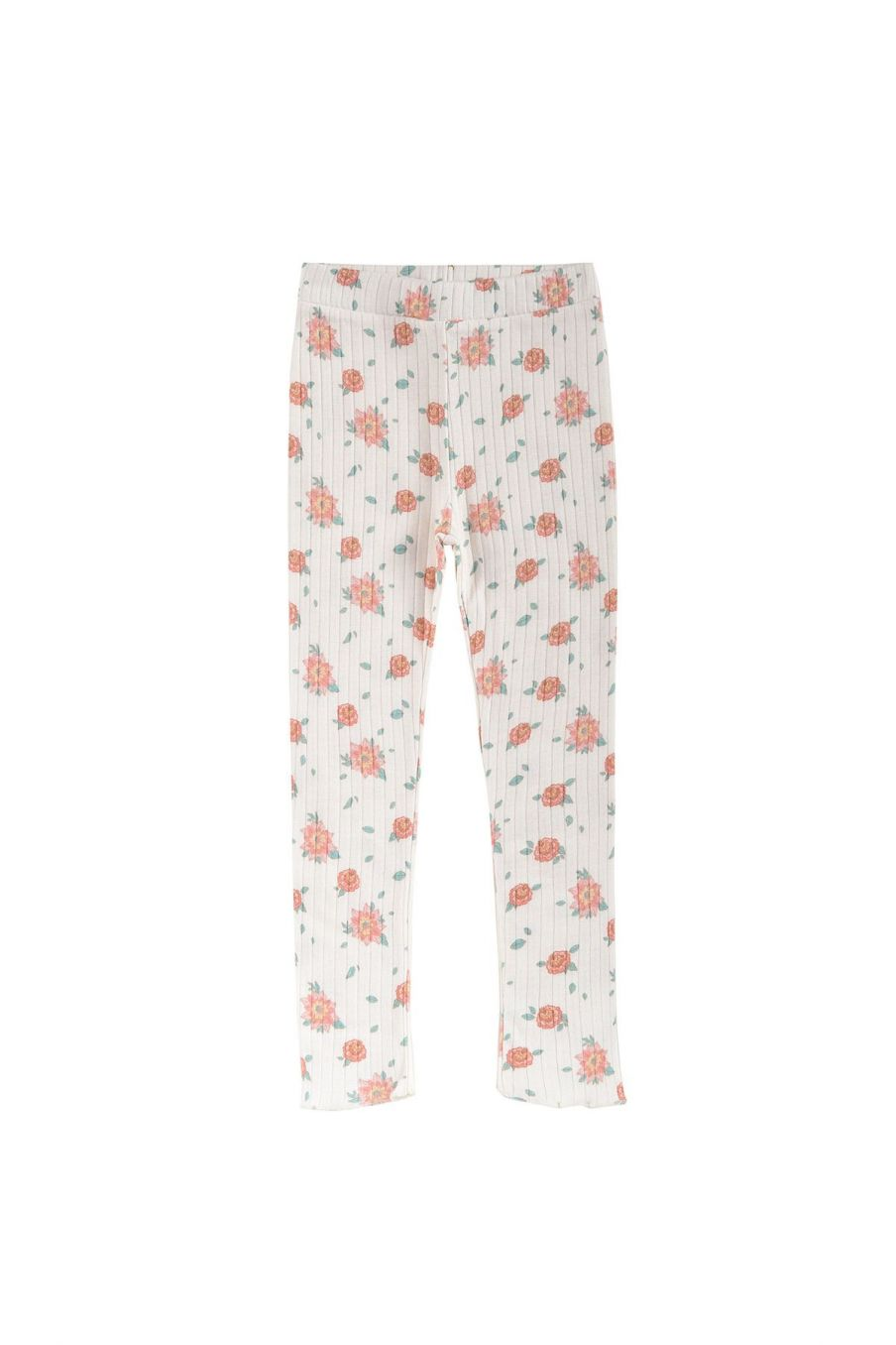 boheme chic vintage leggings fille anandou off-white flowers
