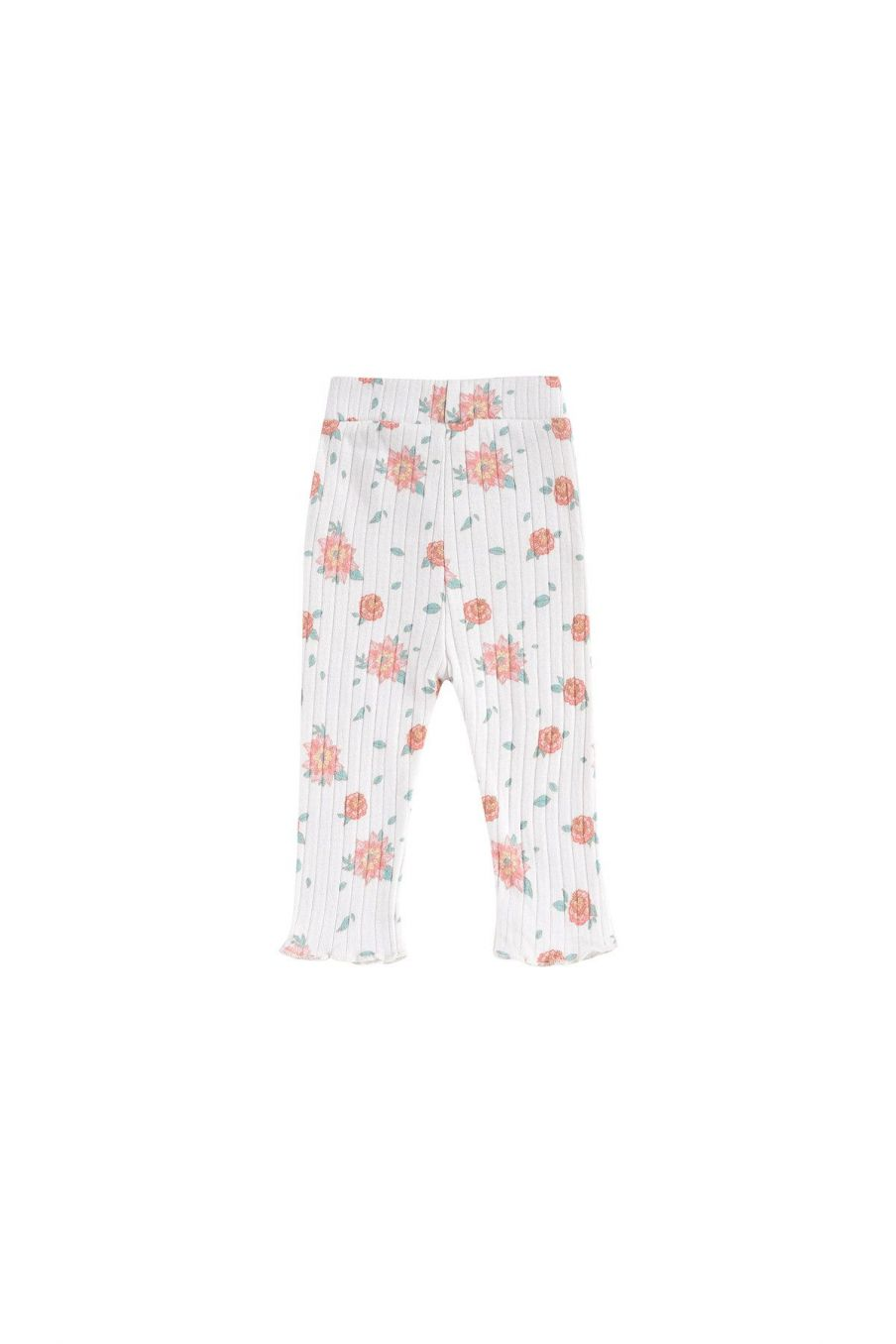 boheme chic vintage leggings bébé fille anandou off-white flowers